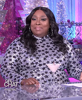 Loni's sequined star dress on The Real