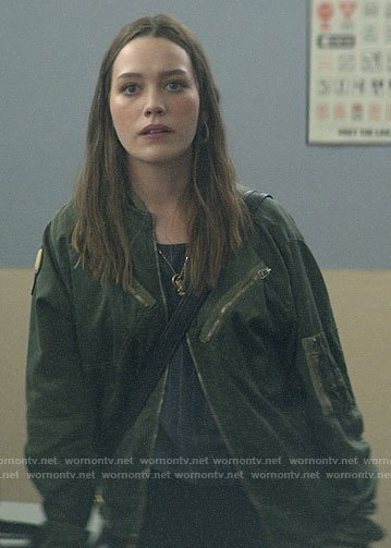 Love's green bomber jacket on You