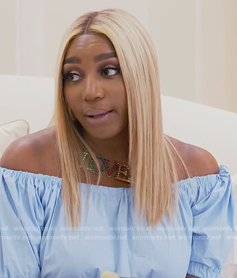 Nene's Loved crystal necklace on The Real Housewives of Atlanta