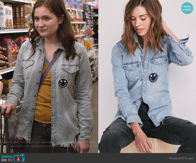 Western Shirt by Lucky Brand worn by Debbie Gallagher (Emma Kenney) on Shameless