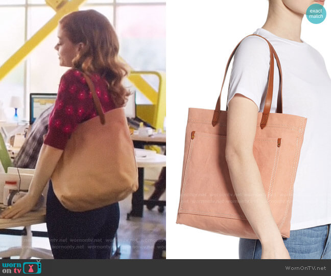 Madewell Medium Transport Tote worn by Zoey Clarke (Jane Levy) on Zoeys Extraordinary Playlist