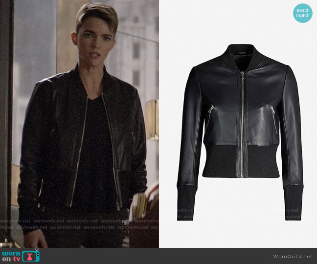 Maje Blotine Leather Jacket worn by Kate Kane (Ruby Rose) on Batwoman