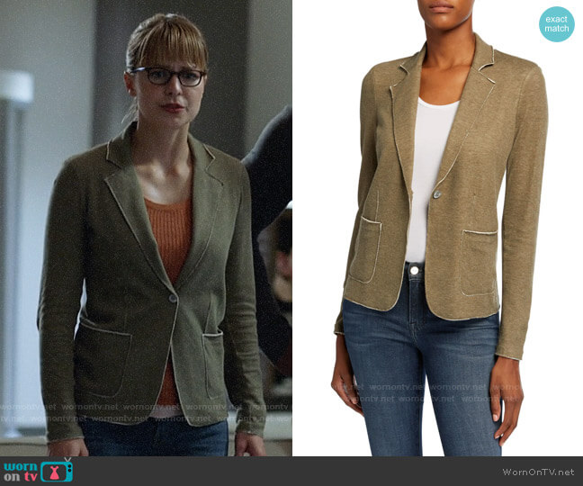 Majestic Filatures One-Button Double Face Blazer worn by Kara Danvers (Melissa Benoist) on Supergirl