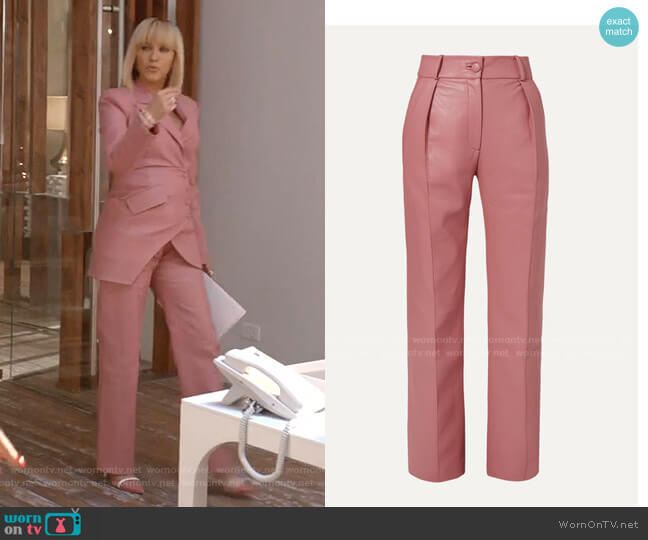 Faux Leather Straight-Leg Pants by Materiel worn by Giselle (Nicole Ari Parker) on Empire