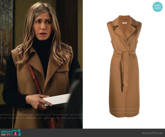 Max Mara Sleeveless Trench worn by Alex Levy (Jennifer Aniston) on The Morning Show