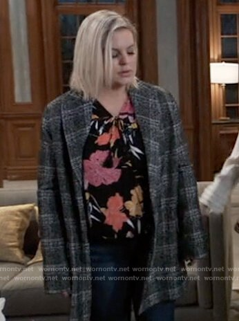 Maxie's plaid coat on General Hospital