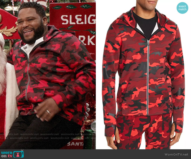Michael Kors Camo Hoodie worn by Andre Johnson (Anthony Anderson) on Blackish