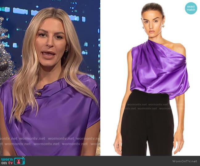 Asymmetrical Drape Top by Michelle Mason for Forward worn by Morgan Stewart  on E! News