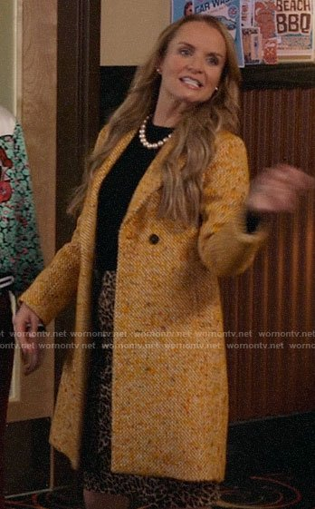 Miss Jenn's yellow tweed coat on High School Musical The Musical The Series