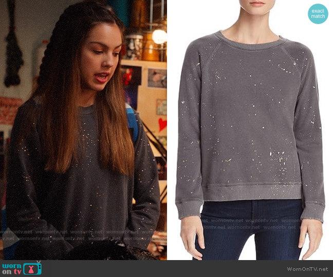Monrow Splatter Print Pullover worn by Nini (Olivia Rodrigo) on High School Musical The Musical The Series