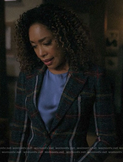 Mrs Burble's plaid blazer on Riverdale
