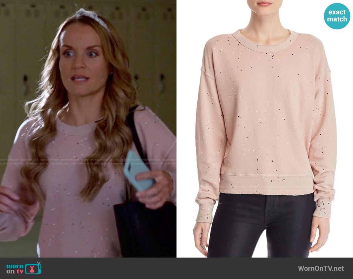 n:Philanthropy Lauren Paint-Splatter Sweatshirt worn by Miss Jenn (Kate Reinders) on High School Musical The Musical The Series