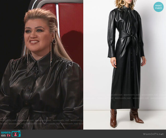 Rosana shirt dress by Nanushka worn by Kelly Clarkson  on The Voice