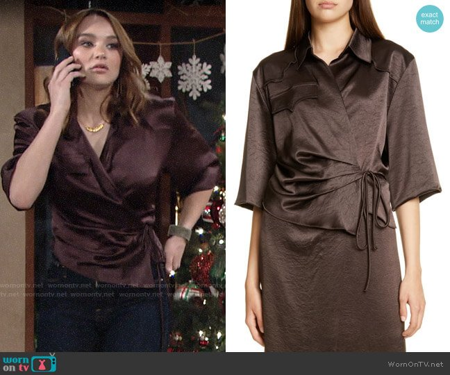 nanushka dalas top worn by Summer Newman (Hunter King) on The Young & the Restless