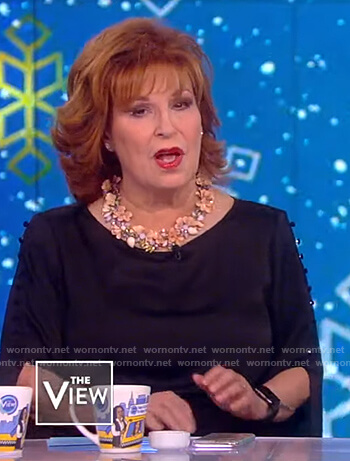 Joy's button split sleeve blouse on The View