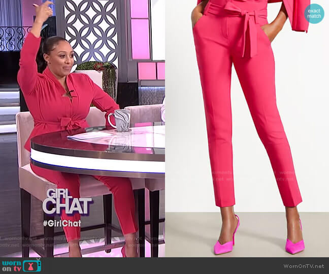 Madie Pant - 7th Avenue by New York & Company worn by Tamera Mowry  on The Real