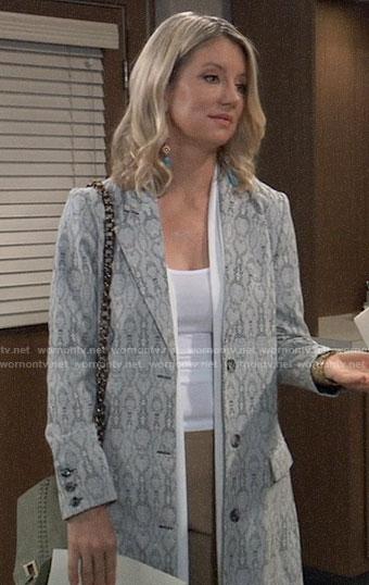 Nina's snake print coat on General Hospital