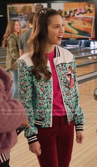 Nini's floral bomber jacket on High School Musical The Musical The Series