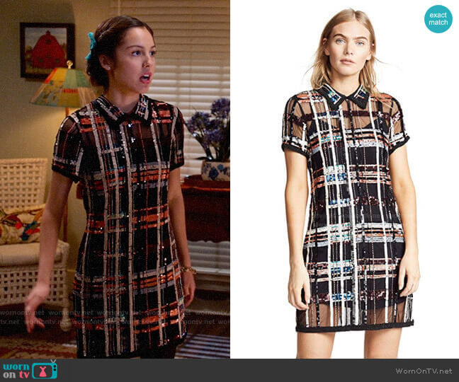 Parker Grayson Dress worn by Nini (Olivia Rodrigo) on High School Musical The Musical The Series
