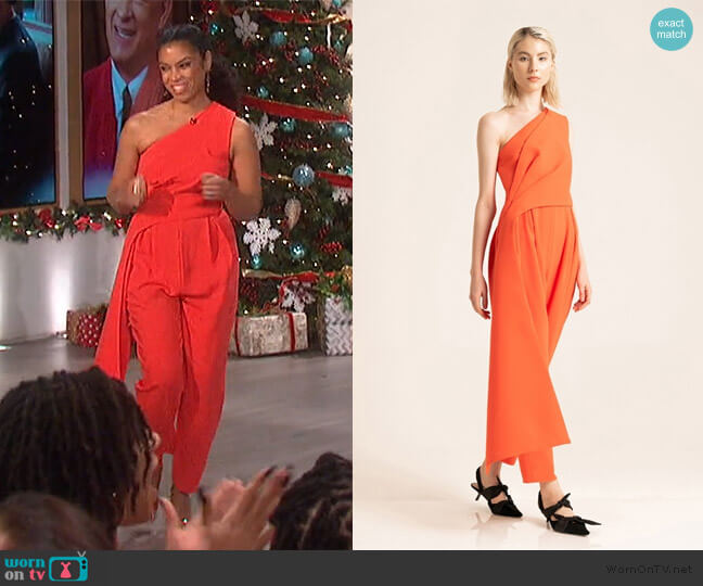 Archaic Jumpsuit by Peggy Hartanto worn by Susan Kelechi Watson on The Talk