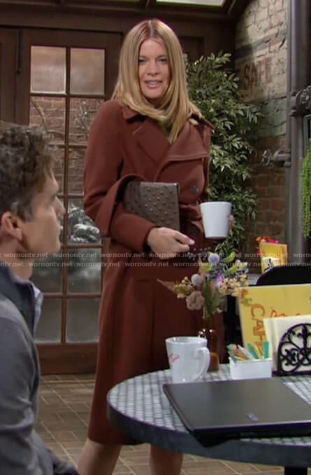 Phyllis's brown coat on The Young and the Restless