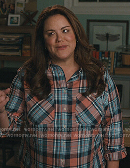 Katie's plaid shirt on American Housewife