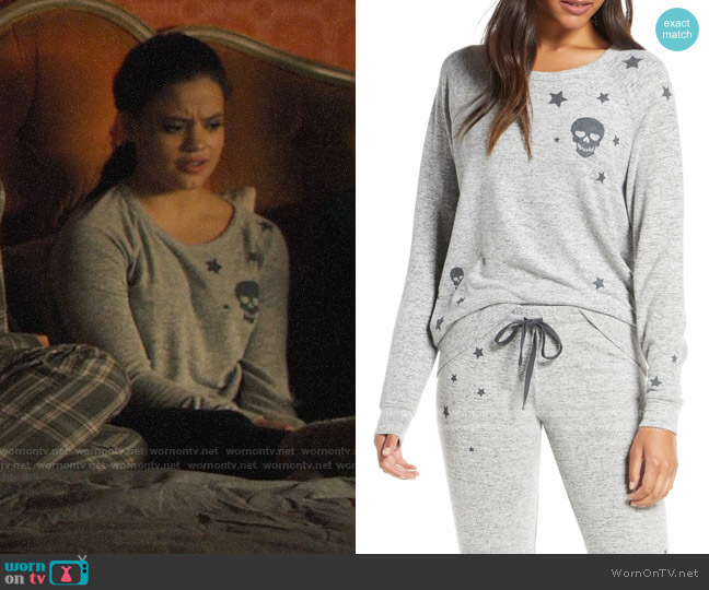 PJ Salvage Stars & Skulls Pajama Top worn by Maggie Vera (Sarah Jeffery) on Charmed