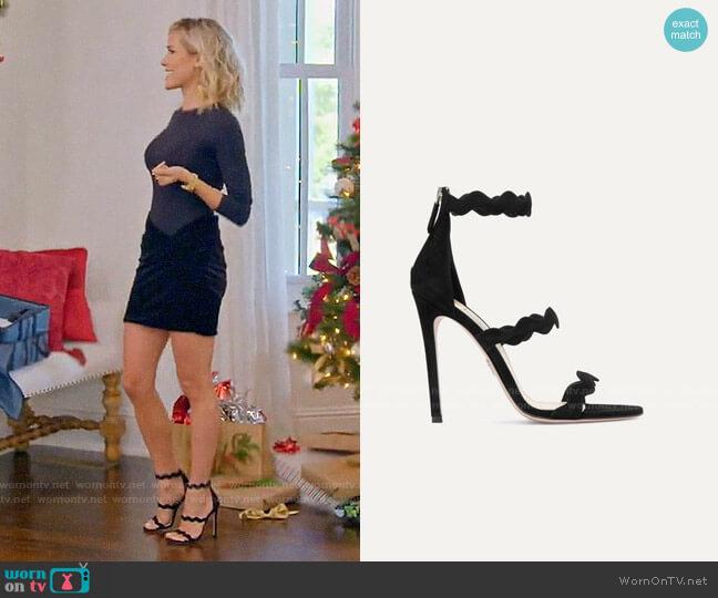 Prada Scalloped Suede Sandals worn by Kristin Cavallari  on Very Cavallari