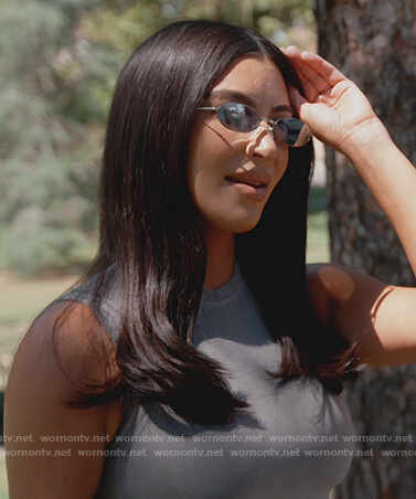 Kim's oval lens sunglasses on Keeping Up with the Kardashians