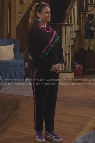 Kimmy's purple suede sneakers on Fuller House