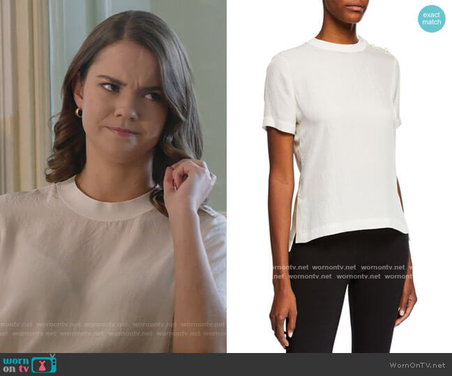 Aiden T-Shirt by Rag and Bone worn by Callie Foster (Maia Mitchell) on Good Trouble