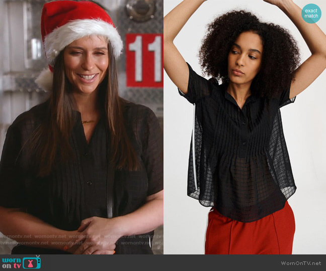 Marcela Blouse by Rag & Bone worn by Maddie Kendall (Jennifer Love Hewitt) on 9-1-1