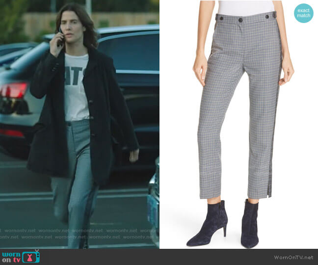 Meki Stripe Plaid Crop Pants by Rag & Bone worn by Dex Parios (Cobie Smulders) on Stumptown