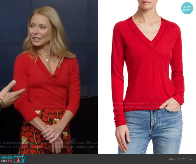 Pamela Merino Wool Sweater by Rag & Bone worn by Kelly Ripa  on Live with Kelly & Ryan