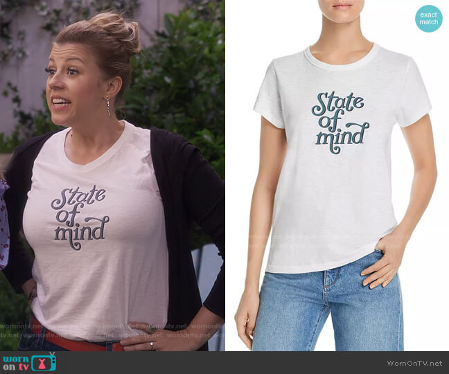 State of Mind Graphic Tee by Rag & Bone worn by Stephanie Tanner (Jodie Sweetin) on Fuller House