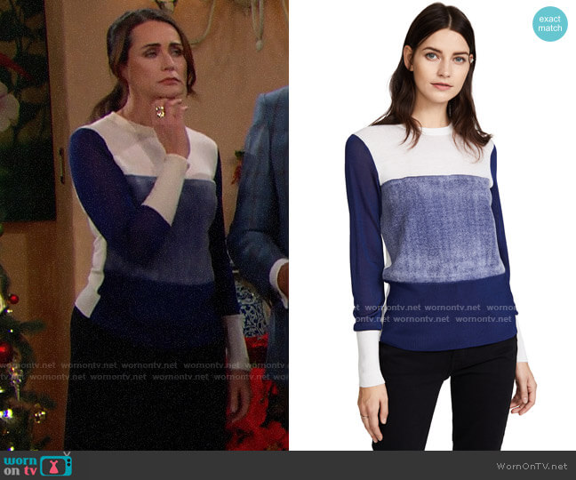 Rag & Bone Marissa Sweater worn by Quinn Fuller (Rena Sofer) on The Bold & the Beautiful