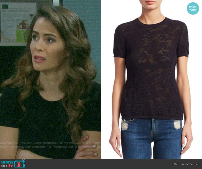 Rag & Bone Perry Top worn by Sarah Horton (Linsey Godfrey) on Days of our Lives