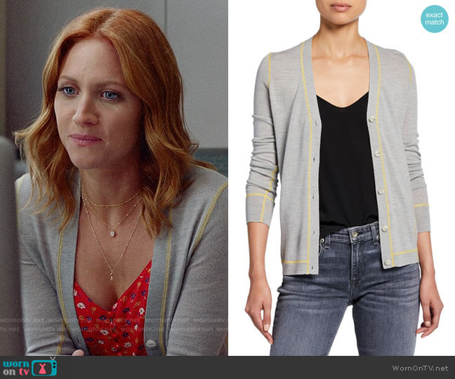 Rag and Bone Shannon Cardigan worn by Julia Bechley (Brittany Snow) on Almost Family
