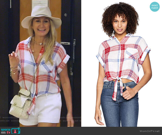 Amelie Plaid Shirt by Rails worn by Kary Brittingham  on The Real Housewives of Dallas