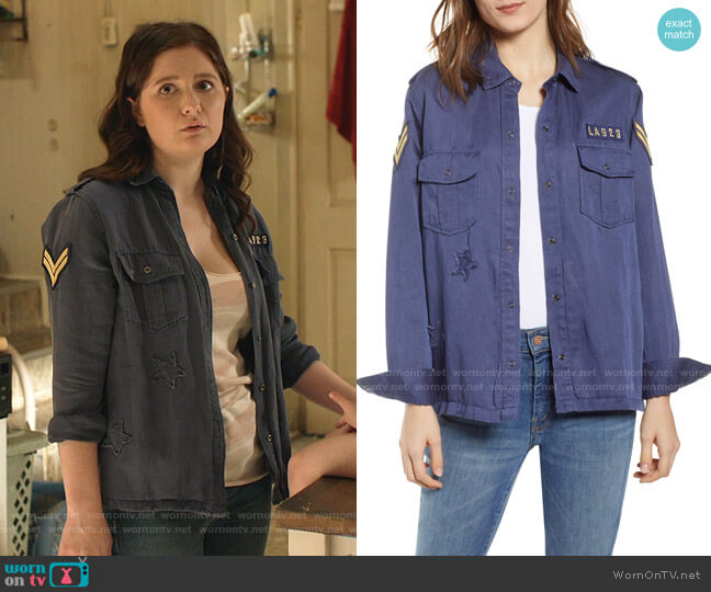 Kato Military Shirt by Rails worn by Debbie Gallagher (Emma Kenney) on Shameless
