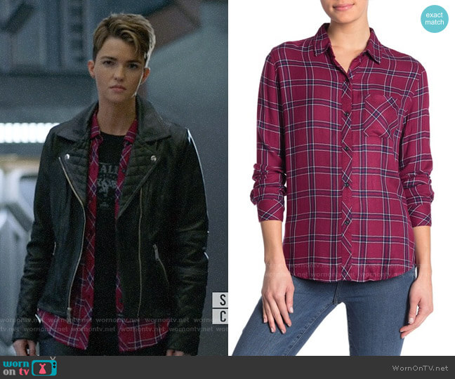 Rails Hunter Shirt in Merlot Navy worn by Kate Kane (Ruby Rose) on Batwoman