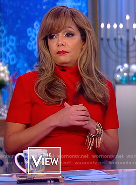 Sunny's red midi dress on The View