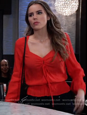 Sasha's red keyhole top on General Hospital