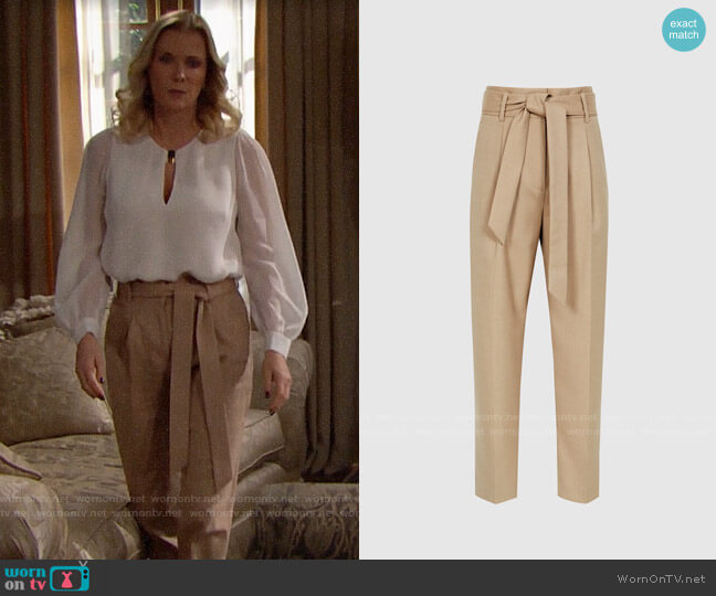 Reiss Horton Pants worn by Brooke Logan (Katherine Kelly Lang) on The Bold & the Beautiful