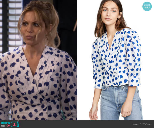 Chanel Blouse by Rixo worn by DJ Tanner-Fuller (Candace Cameron Bure) on Fuller House