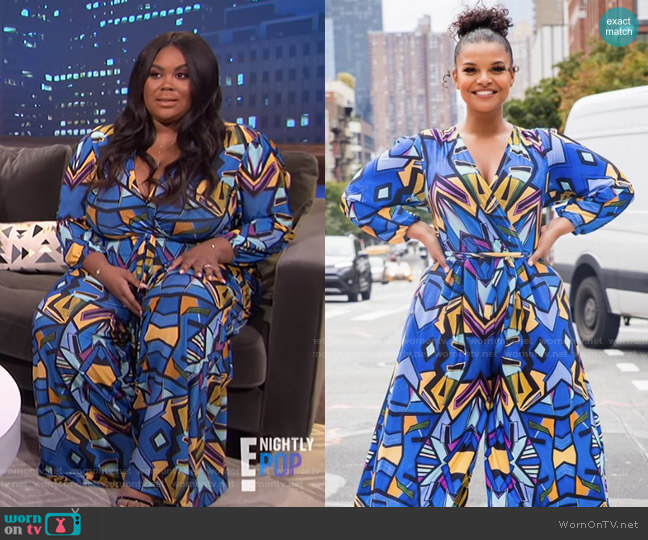 Pryor Jumpsuit by Rue 107 worn by Nina Parker  on E! News