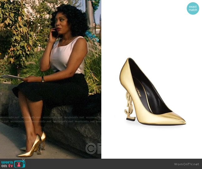 YSL Opyum Metallic Leather YSL Pumps worn by Lola Carmichael (Simone Missick) on All Rise