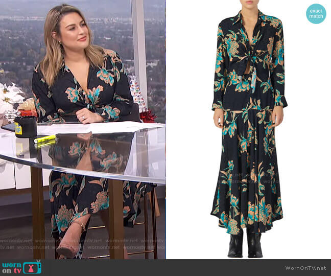 Blaire Dress by Sandro worn by Carissa Loethen Culiner  on E! News