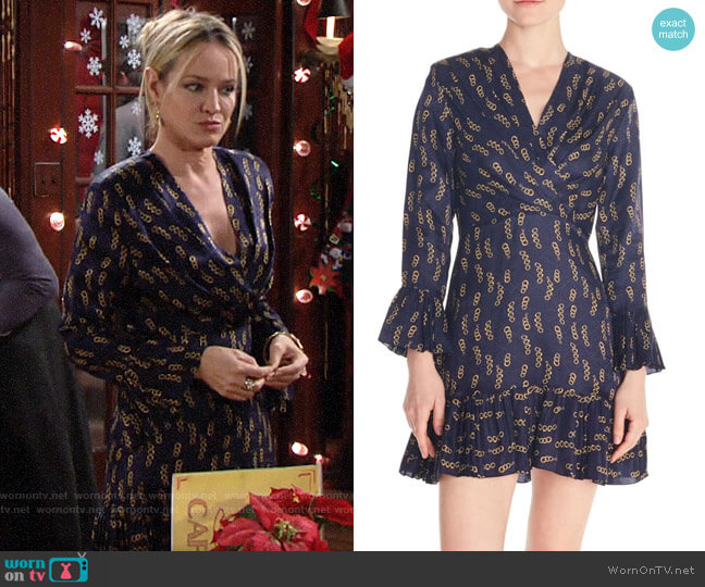 Sandro Milly Chain Print Dress worn by Sharon Collins (Sharon Case) on The Young & the Restless