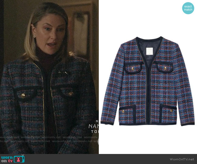Sandro Liman Tweed Jacket worn by Alice Cooper (Mädchen Amick) on Riverdale